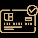 icona pagamento sicuro con carta di credito